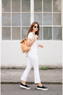 Black-opening-ceremony-shoes-white-frame-jeans-white-zady-t-shirt