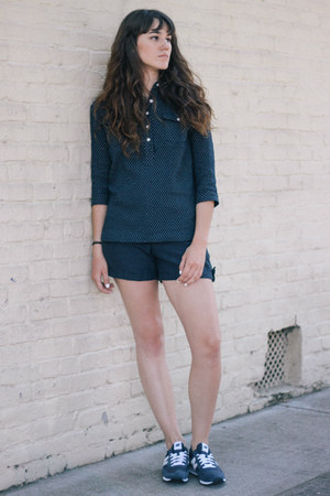 navy Bridge & Burn shorts - navy Bridge & Burn blouse