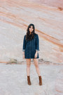 Brown-free-people-boots-navy-forever-21-dress