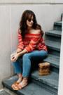 Sky-blue-frame-jeans-red-faithfull-the-brand-top