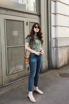 olive green Day Dreamer LA t-shirt - tan Mari Giudicelli shoes