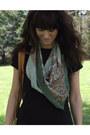 Army-green-vintage-scarf-black-romper