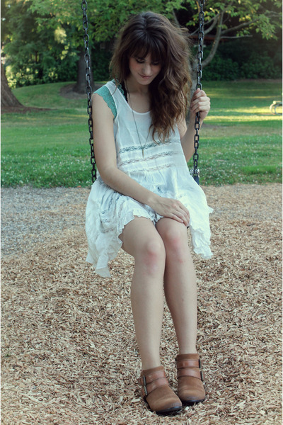 ivory free people dress - turquoise blue lace free people top