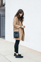 camel Blq Basiq coat - black nike sneakers