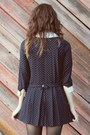 Navy-60s-vintage-dress-army-green-thrifted-coat-black-thrifted-loafers