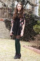 Topshop boots - floral kimono Forever 21 blouse
