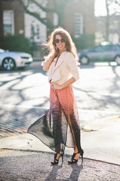 blazer - dress - Bebe sunglasses - Guess heels