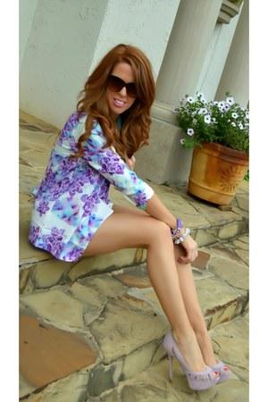 floral print sabo skirt blazer - floral print sabo skirt shorts