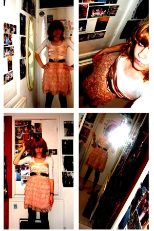 pink pink lace dress LA Love dress - pink Topshop shoes