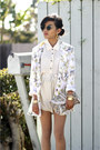 Shona-joy-shorts-insight-51-blazer-remi-emmy-bag-jimmy-choo-pumps