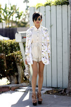 insighT 51 blazer - Remi & Emmy bag - Shona Joy shorts - Jimmy Choo pumps