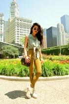ivory Alexander Wang boots - olive green riding pants American Apparel leggings