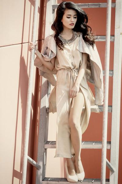 vintage dress - Topshop jacket - Maurie & Eve heels - vintage necklace