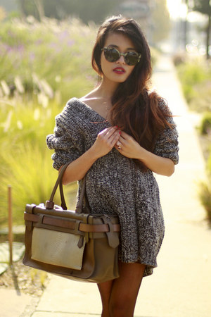lace up boots ASH boots - Zara sweater - Reed Krakoff bag - Super sunglasses