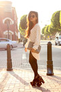Cardigan-cardigan-gucci-clutch-gucci-bag-leather-shorts-kahlo-shorts