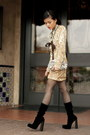 Motel-dress-velvet-boots-alexander-wang-boots-sequin-clutch-club-monaco-bag