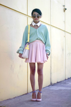 Super sunglasses - joy satchel Nila Anthony bag - keepsake keepsake skirt