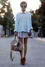 Zara-sweater-cognac-boots-dolce-vita-boots-faux-python-bag-steve-madden-bag