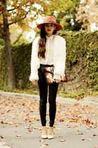 tokyo hat hat - H&M blouse - nude pumps Aldo heels
