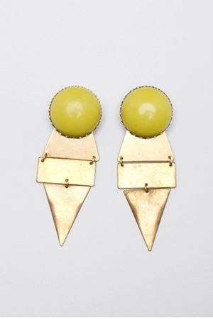 gold maslodesign earrings
