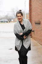 Zara sweater - madewell dress - Chanel purse