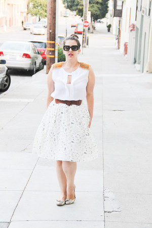 BCBG top - Jcrew skirt