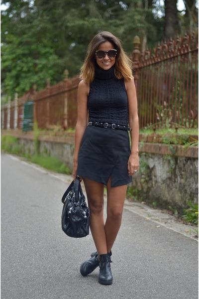 Zara bag - Topshop boots - Zara skirt