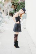 black suede Urban Outfitters boots