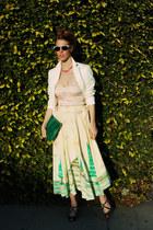 eel skin clutch vintage bag - tailored Anne Taylor blazer