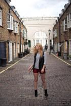 gmarket jacket - gmarket shorts - H&M top