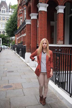 Zara blazer - River Island boots - River Island jeans - H&M top