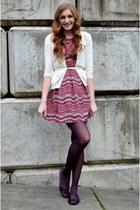 cream Nordstrom Rack cardigan - hot pink Nordstrom Rack dress