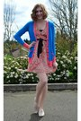 Salmon-h-m-dress-sky-blue-prabal-garung-for-target-cardigan