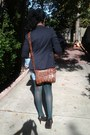 Black-blazer-brown-shoes-diy-thrifted-jeans-green-tights-bag