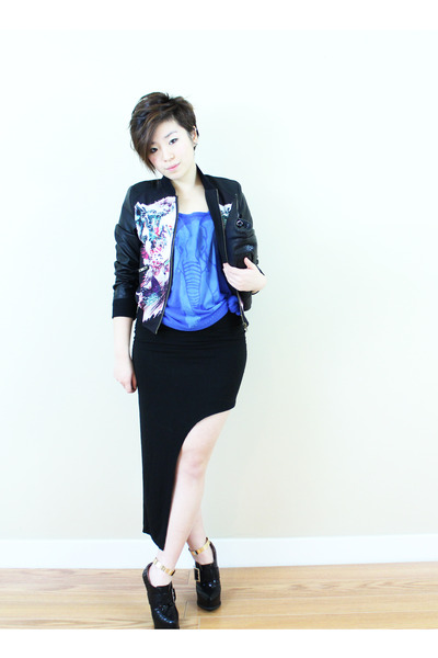 Jeffrey Campbell shoes - TheScarletRoom jacket - zipia skirt