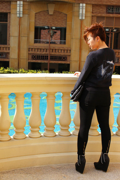Zara shirt - LAMB boots - Zara pants