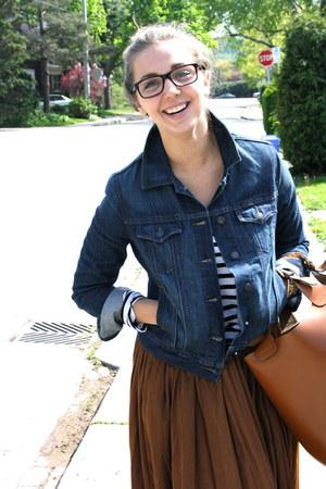 Zara bag - Old Navy jacket - Zara skirt - Forever 21 top - Zara sandals