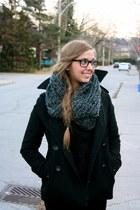 wool Gap coat - Hunters boots - wool H&M sweater - corduroy HUE pants