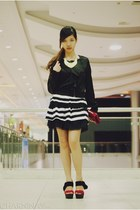 black striped OASAP dress