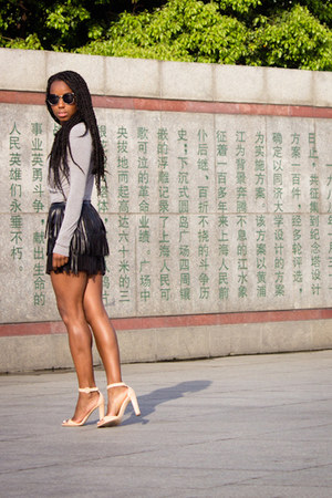 H&M skirt - banana republic blouse - Zara heels