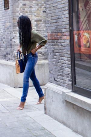 Gap jeans - H&M blouse - Zara heels