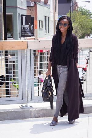 Zara shoes - Zara jeans - H&M jacket - Forever 21 shirt - Prada bag