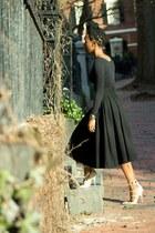 wool H&M skirt - crop top American Apparel top