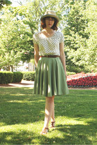lime green skirt - eggshell straw Aldo Accessories hat