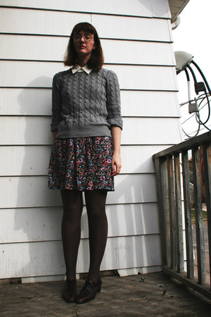 thrifted Bass shoes - thrifted Gap sweater