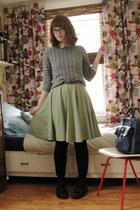 thrifted skirt - Thrifted Gap sweater