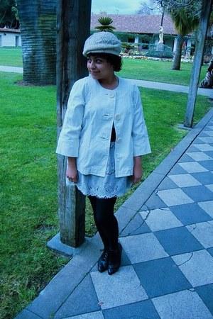 Gap coat - Forever 21 hat - Target skirt