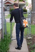 leather Aldo shoes - skinny jeans LEVI AUTHENTICS SIGNATURE jeans - messenger be