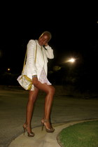 Steve Madden heels - H&M blazer - vintage reign bag - Zara blouse