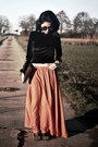 Velvet-zaful-top-orange-zaful-skirt